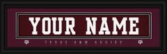 Texas A&M Aggies Personalized Jersey Nameplate Framed Print