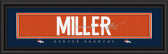 Denver Broncos signature player jersey prints MILLER