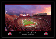 Sundown at the Horseshoe Framed Print no mat