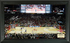Houston Rockets Team Signature Framed Picture
