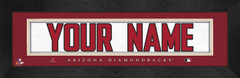 Arizona Diamondbacks Personalized Jersey Nameplate