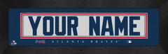 Atlanta Braves Personalized Jersey Nameplate