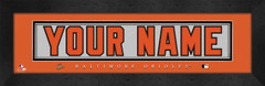 Baltimore Orioles Personalized Jersey Nameplate