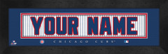 Chicago Cubs Personalized Jersey Nameplate