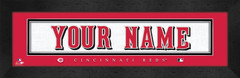 Cincinnati Reds Personalized Jersey Nameplate