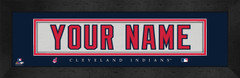 Cleveland Indians Personalized Jersey Nameplate