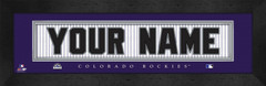 Colorado Rockies Personalized Jersey Nameplate