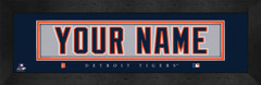 Detroit Tigers Personalized Jersey Nameplate