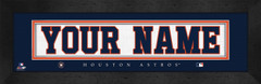 Houston Astros Personalized Jersey Nameplate