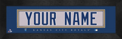 Kansas City Royals Personalized Jersey Nameplate