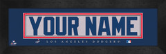 Los Angeles Dodgers Personalized Jersey Nameplate