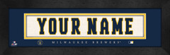 Milwaukee Brewers Personalized Jersey Nameplate