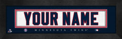 Minnesota Twins Personalized Jersey Nameplate