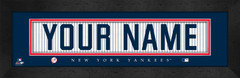 New York Yankees Personalized Jersey Nameplate