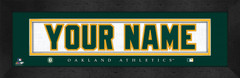 Oakland Athletics Personalized Jersey Nameplate