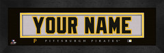 Pittsburg Pirates Personalized Jersey Nameplate