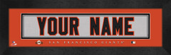 San Francisco Giants Personalized Jersey Nameplate