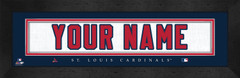 St. Louis Cardinals Personalized Jersey Nameplate