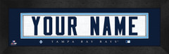 Tampa Bay Rays Personalized Jersey Nameplate