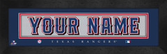 Texas Rangers Personalized Jersey Nameplate
