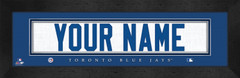 Toronto Blue Jays Personalized Jersey Nameplate