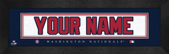 Washington Nationals Personalized Jersey Nameplate