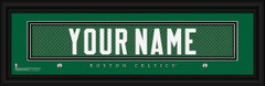 Boston Celtics Personalized Jersey Nameplate Framed Print