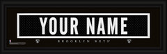 Brooklyn Nets Personalized Jersey Nameplate Framed Print
