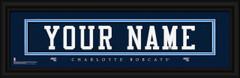 Charlotte Bobcats Personalized Jersey Nameplate Framed Print