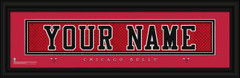 Chicago Bulls Personalized Jersey Nameplate Framed Print