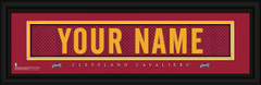 Cleveland Cavaliers Personalized Jersey Nameplate Framed Print