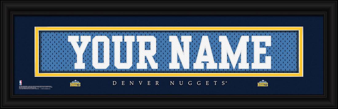 Denver Nuggets Personalized Jersey Nameplate Framed Print