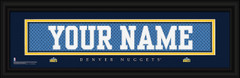 Denver Nuggets Personalized Jersey Nameplate Framed Print