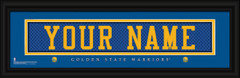 Golden State Warriors Personalized Jersey Nameplate Framed Print