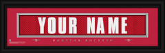 Houston Rockets Personalized Jersey Nameplate Framed Print