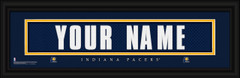 Indiana Pacers Personalized Jersey Nameplate Framed Print