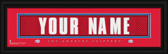 Los Angeles Clippers Personalized Jersey Nameplate Framed Print
