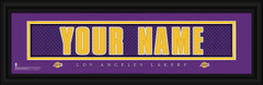 Los Angeles Lakers Personalized Jersey Nameplate Framed Print