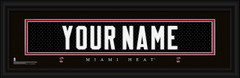 Miami Heat Personalized Jersey Nameplate Framed Print
