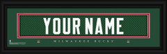 Milwaukee Bucks Personalized Jersey Nameplate Framed Print