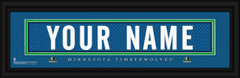 Minnesota Timberwolves Personalized Jersey Nameplate Framed Print