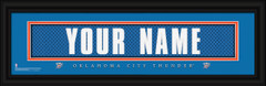 Oklahoma City Thunder Personalized Jersey Nameplate Framed Print