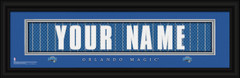 Orlando Magic Personalized Jersey Nameplate Framed Print
