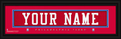 Philadelphia 76ers Personalized Jersey Nameplate Framed Print
