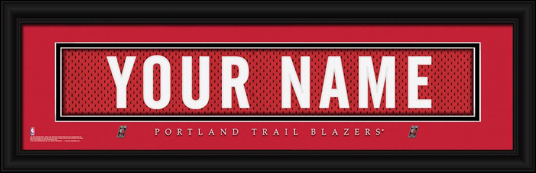 Portland Trail Blazers Personalized Jersey Nameplate Framed Print