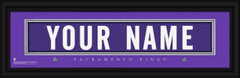 Sacramento Kings Personalized Jersey Nameplate Framed Print