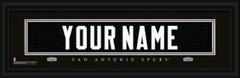 San Antonio Spurs Personalized Jersey Nameplate Framed Print