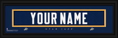 Utah Jazz Personalized Jersey Nameplate Framed Print