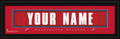 Washington Wizards Personalized Jersey Nameplate Framed Print
