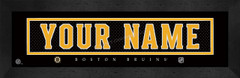 Boston Bruins Personalized Jersey Nameplate Framed Print